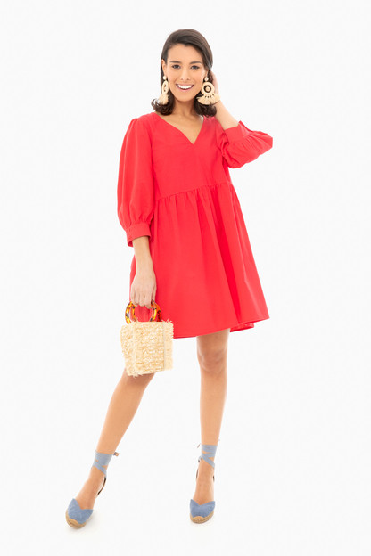 red lizzie dress