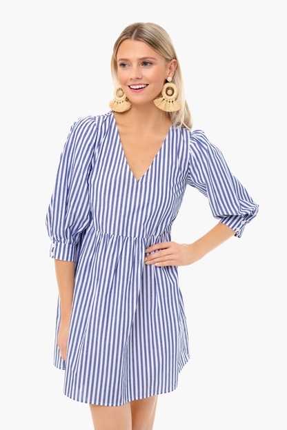 blue stripe lizzie dress
