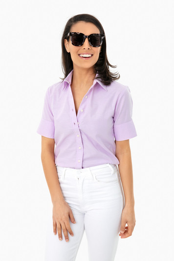 lilac oxford short sleeve