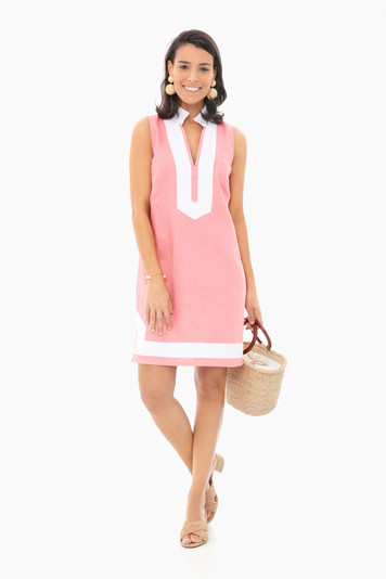 coral sleeveless classic tunic