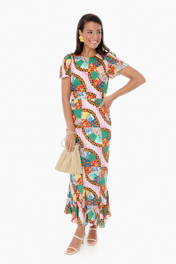 large patchwork lulani dress