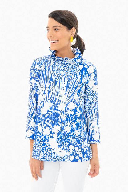 blue wildflower faye blouse