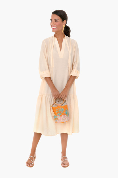 naples sun tiered longsleeve dress