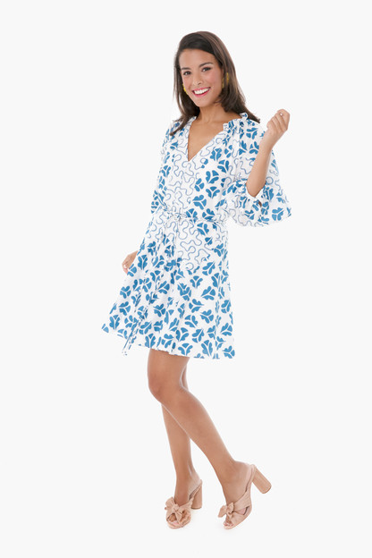 snow combo perla petal dress