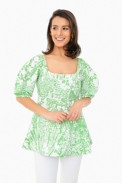 green garden nealy blouse