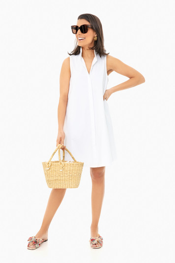 white sleeveless charlie dress