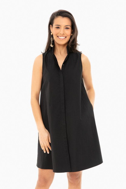 black sleeveless charlie dress