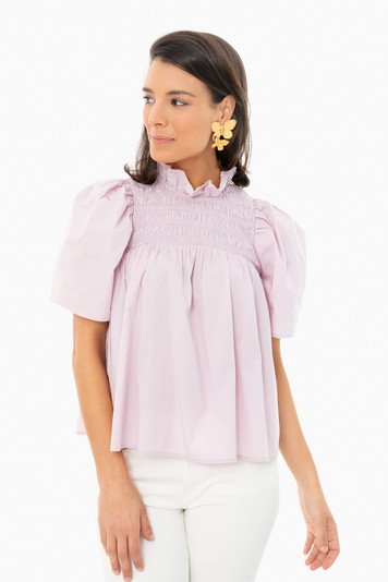 wisteria marlene smocked top