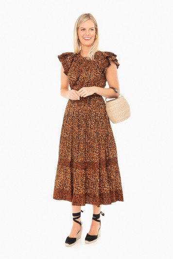 leopard iona dress