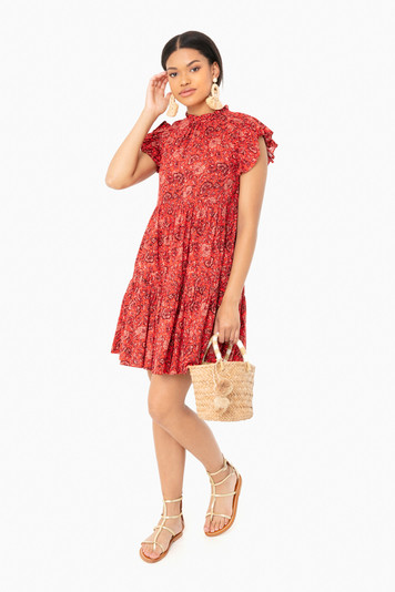 poppy floral hana dress