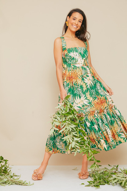 fern green julia dress