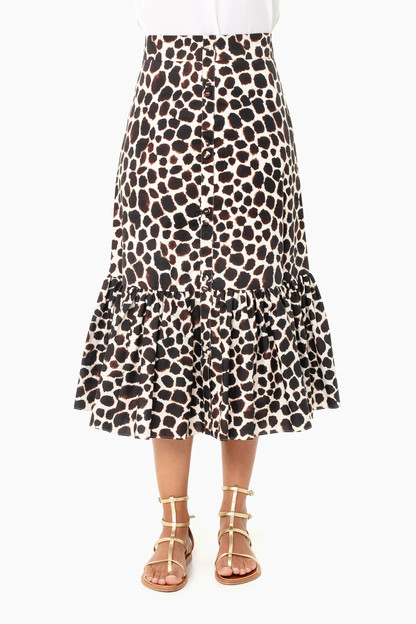 animal brown georgica skirt
