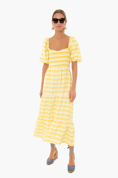 ligne check gianna midi dress