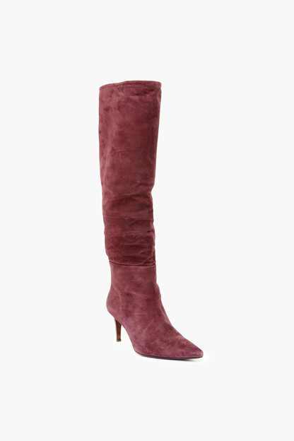 bordeaux dean velour boot