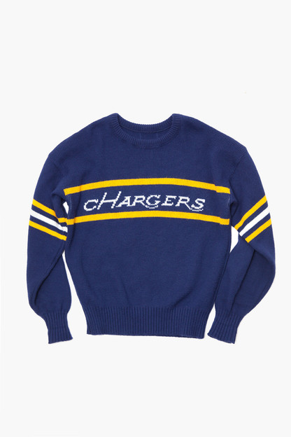 blue chargers sweater