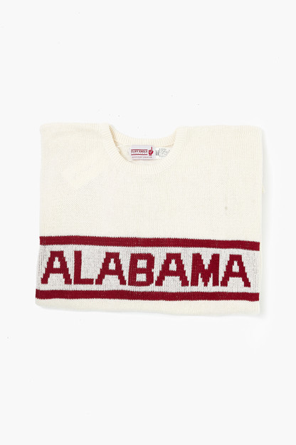 white alabama sweater