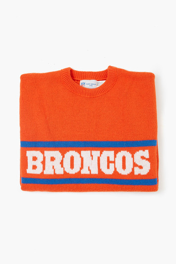 orange broncos sweater