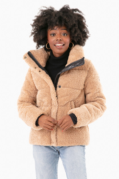 Camel Sherpa Isabel Jacket Take up to 30% off with code BIGSALE.