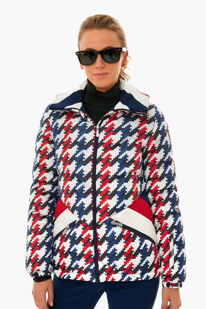 houndstooth apres jacket