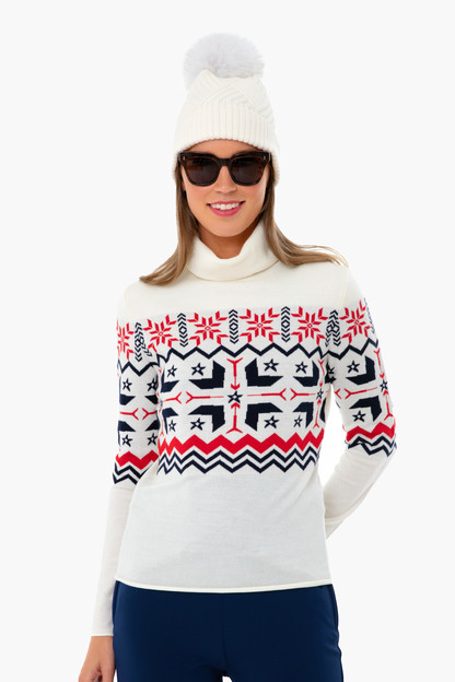 Snow White Nordic Turtleneck Sweater Take up to 30% off with code BIGSALE.