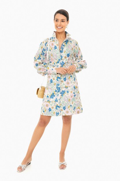 floral button dress