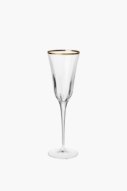 optical gold champagne glass