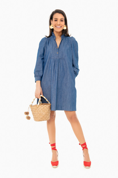 chambray claiborne dress