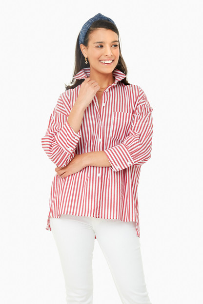 red striped adair boyfriend shirt