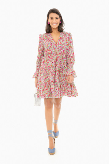 ditsy floral kenzo tiered mini dress