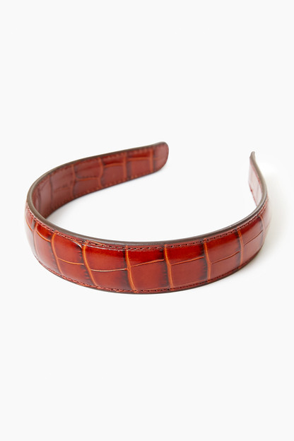 chestnut bobbie leather headband