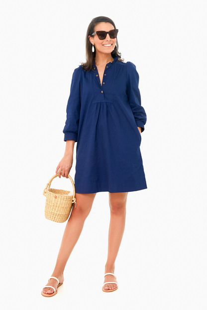 navy claiborne dress