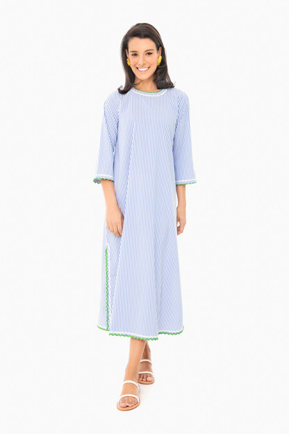 blue stripe jamie dress