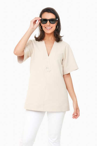 oyster shell ines tunic