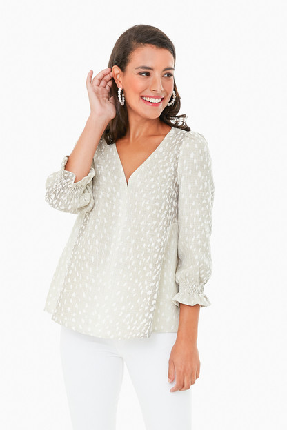 antelope basket weave easton blouse