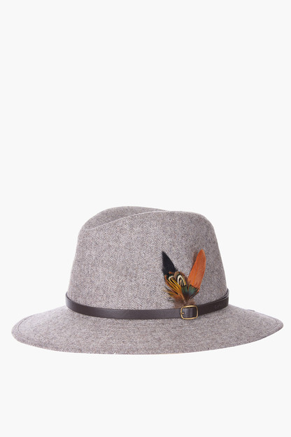 light brown dene fedora