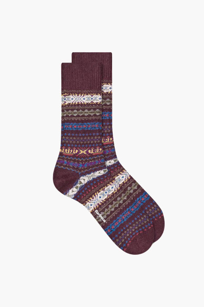 burgundy boyd socks