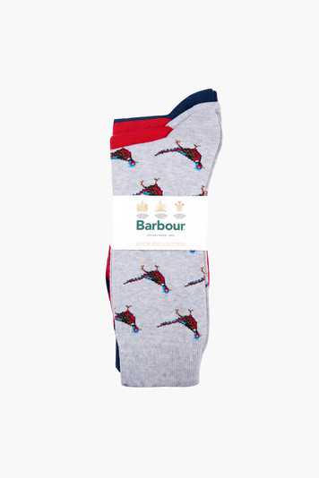 navy red pheasant multi sock set