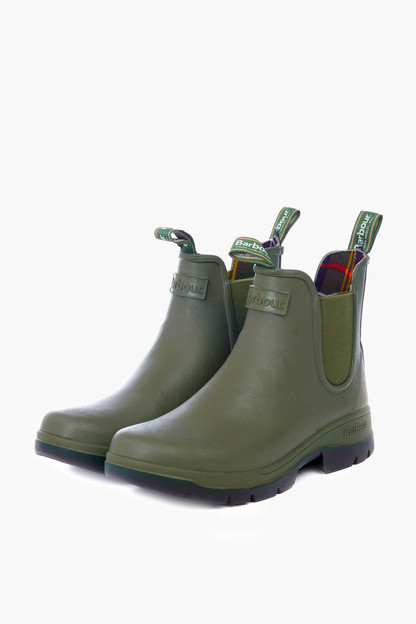 olive fury chelsea boots