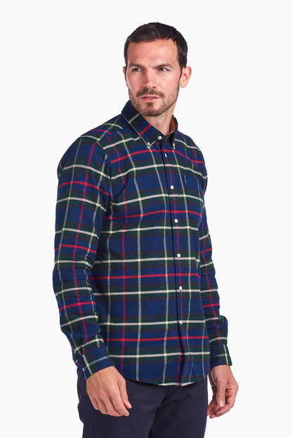 navy highland check 19 tailored shirt