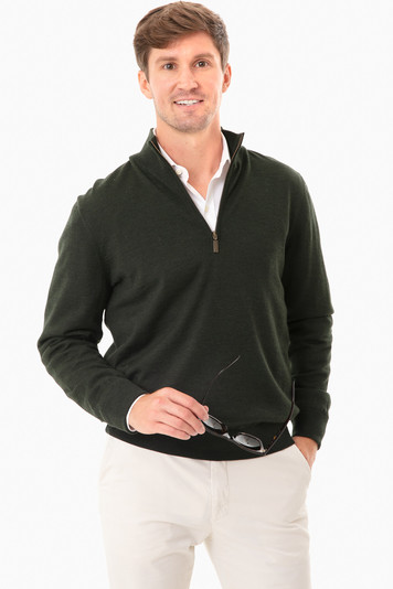 olive gamlin half zip sweater