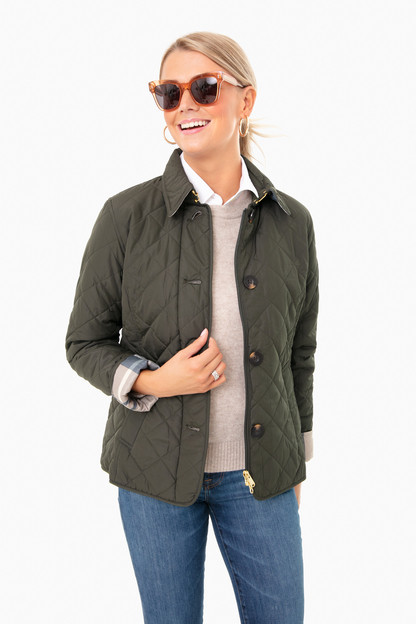 sage oatmeal tartan forth quilted jacket