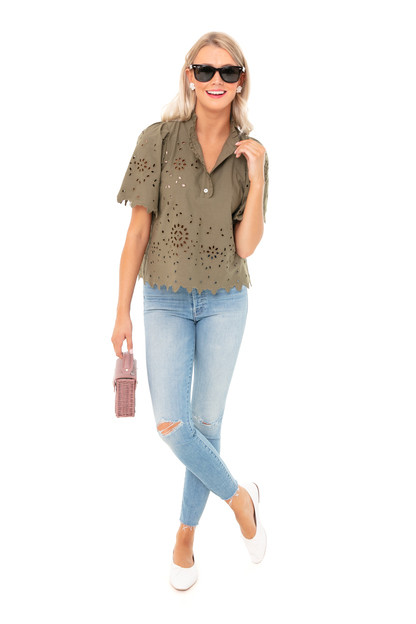 army fiona short sleeve top