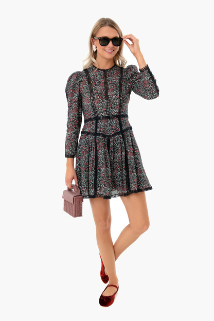 midnight navy combo longsleeve lilou dress