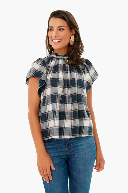cypress plaid carla highneck shirt