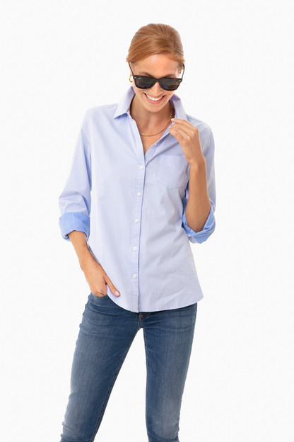 light blue grace classic shirt