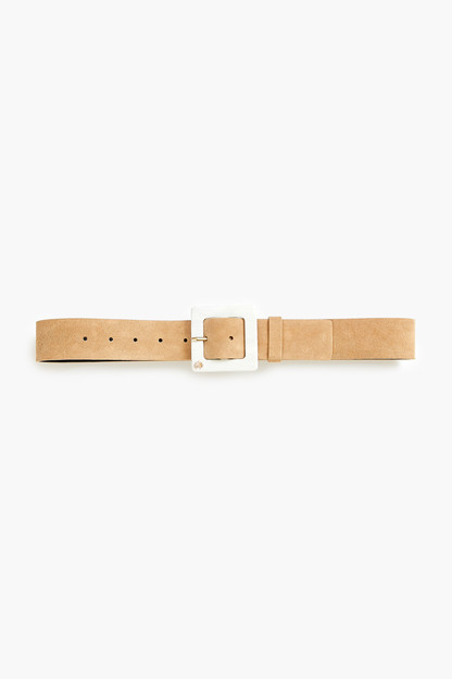 ivory acetate buckle belt