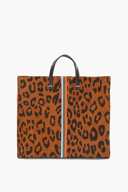 cognac pablo cat suede simple tote