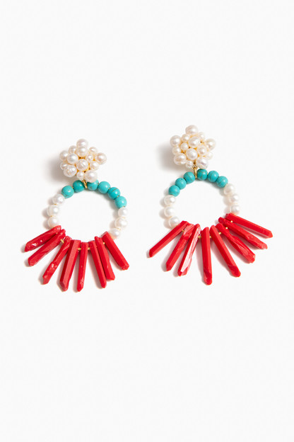 chilli crown earrings