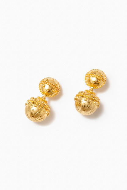 gold olympus lantern earrings