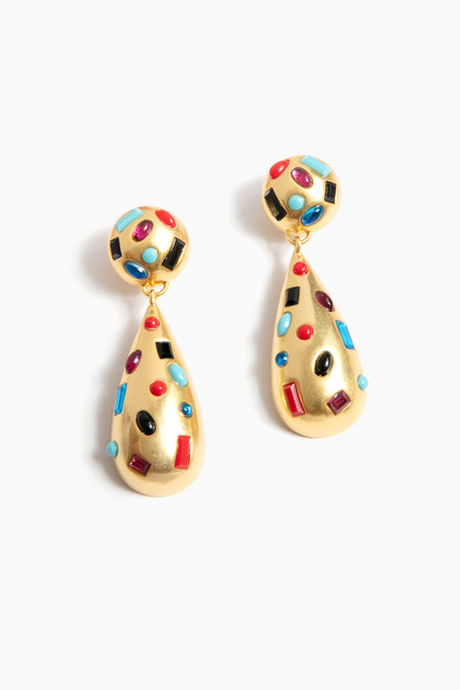 confetti gem drop earrings